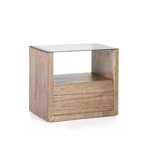 mesilla-noche-madera-cuadrada-cristal