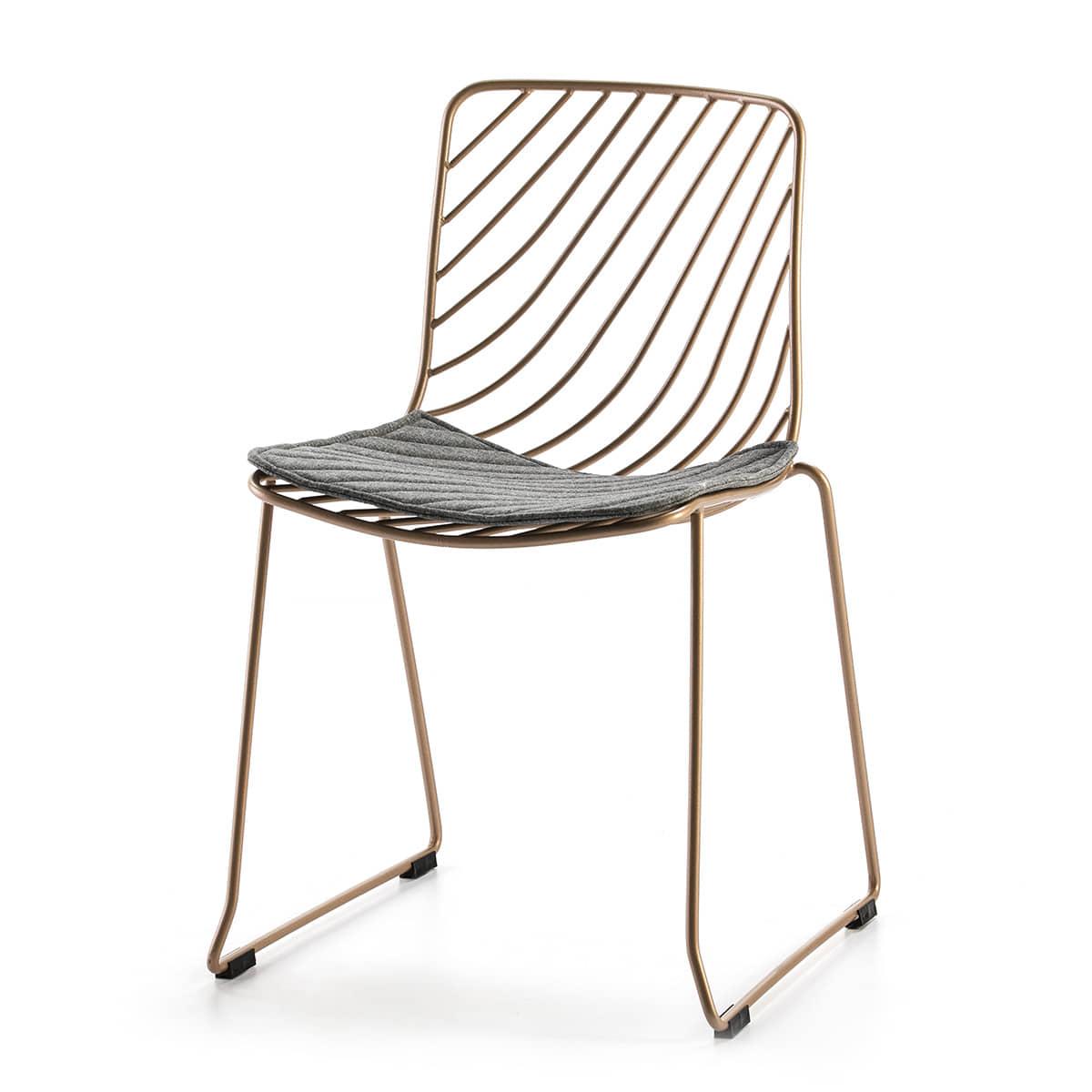 silla-diseño-metal-dorado-negro