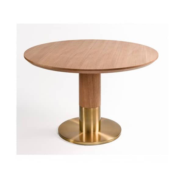 mesa-comedor-madera-fresno-redonda-elegante-diseño