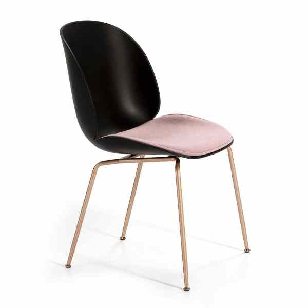 silla-diseño-negra-asiento-rosa