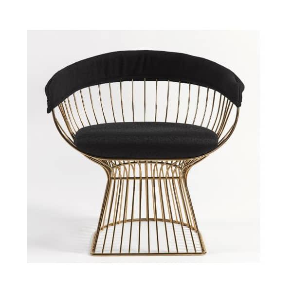 sillon-diseño-metal-dorado-negro-comodo-borgiaconti