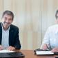 Dr. Salvarezza junto al Dr. Durañona. Foto: CONICET Fotografía.