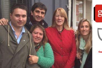 Dirigentes del GEN de San Antonio de Areco, reunidos con Margarita Stolbizer