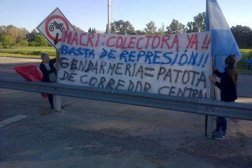 Manifestación en el Peaje Larena