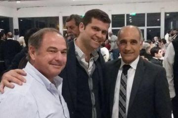 Leonardo Perea, junto a Eduardo Jordán y el Vice Gobernador Daniel Salvador