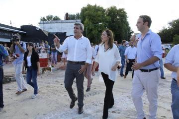 Intendente Francisco Durañona y la Gobernadora de la Provincia de Buenos Aires María Eugenia Vidal - Foto: Camila Pannunzio