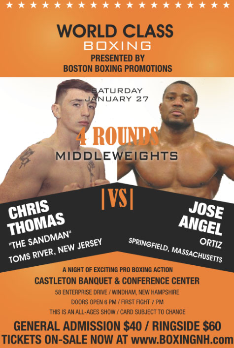 boxing windham new hampshire january 27 tickets event castleton