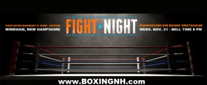 Boxing Windham NH Thanksgiving Eve November 21 event tickets Derry
