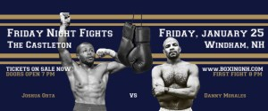 Boxing NH Windham January 25 tickets event Castleton