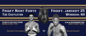 Boxing Windham NH tickets event January 25