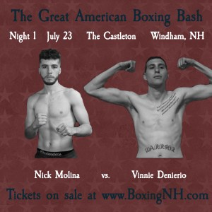 Boxing Windham NH July 23 Castleton event tickets