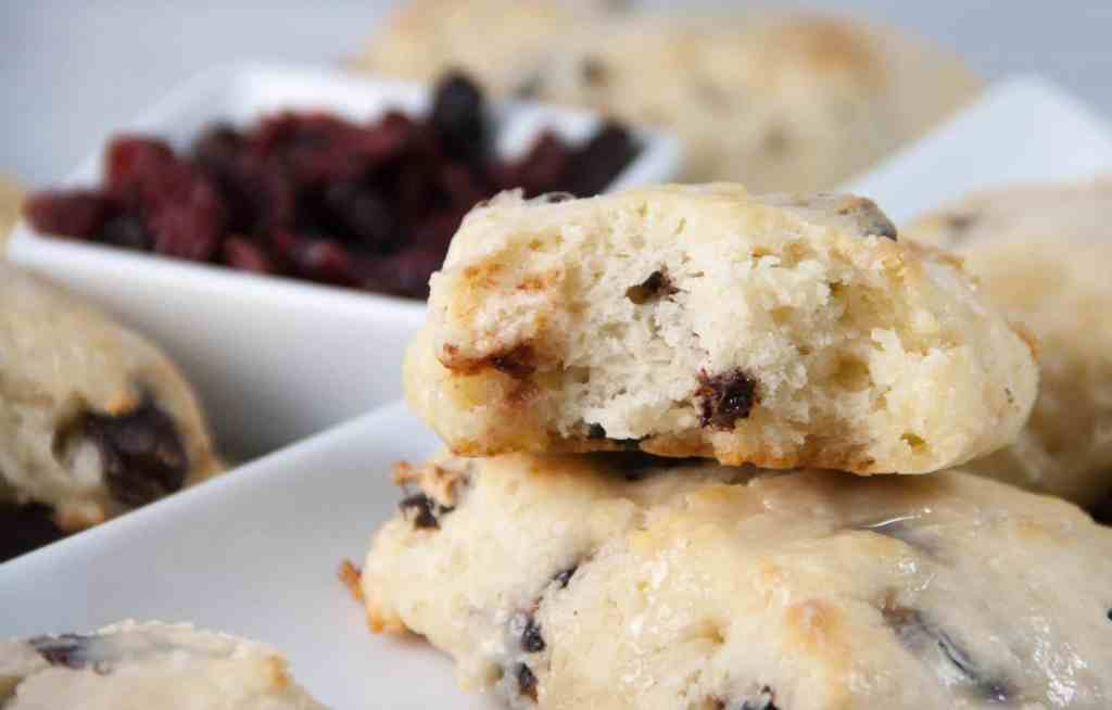 Dark chocolate cherry almond scones that are tender and the perfect ...