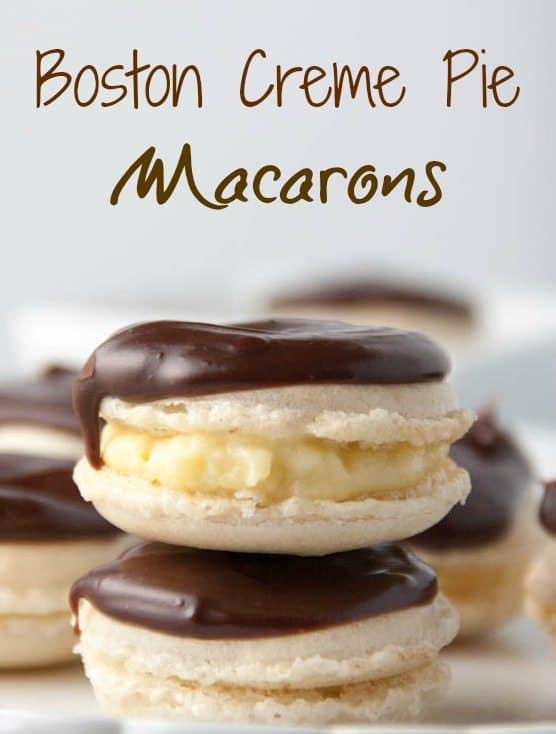 Boston Creme Pie Macarons