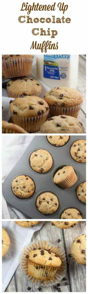 Lightened Up Chocolate Chip Muffins