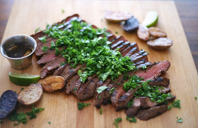 Bourbon and Honey Grilled Flank Steak