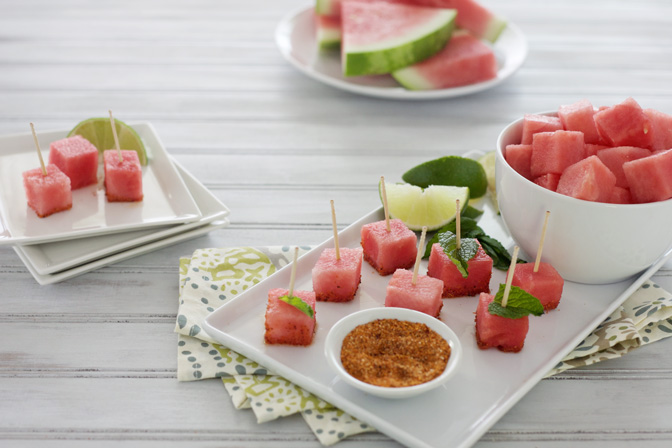 2-Ingredient Spicy Watermelon Bites