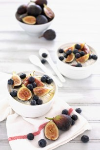 Blueberry Fig Overnight Oatmeal | Bourbon and Honey