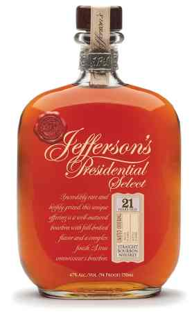 Jefferson's Presidential Select 21 Year-Old Bourbon