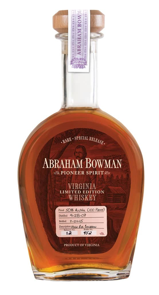 A. Smith Bowman High Rye Bourbon Bottle