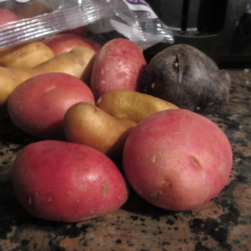 Colored potatoes