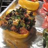 Stuffed bell peppers, baked