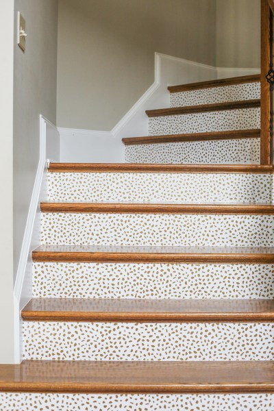 How To Wallpaper Stairs - Bower Power