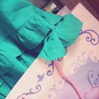 Ma robe couleur menthe à l'eau