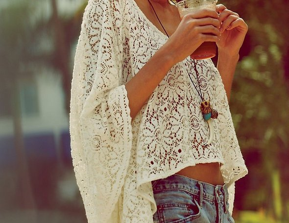 Free People Lace Cropped Kaftan 2011 SS