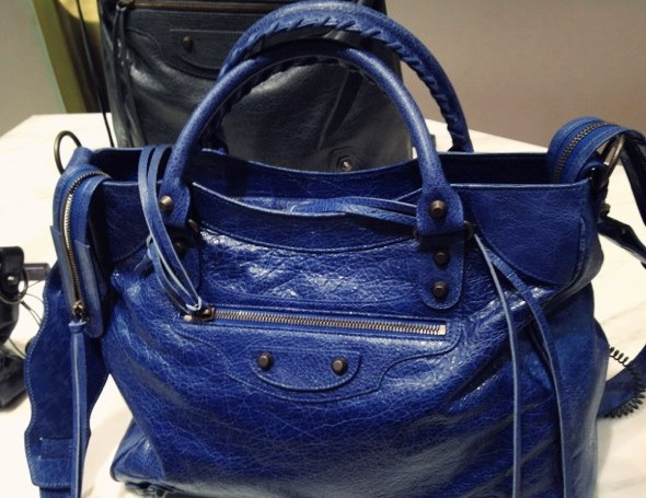Balenciaga sac 2012 blue bleu cobalt azul collection_effected