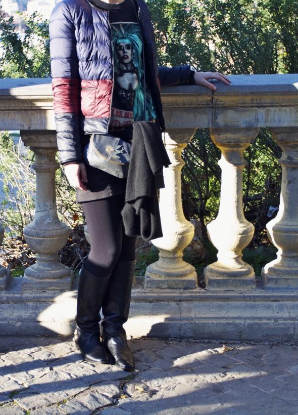 -gucci babuska babouska boots flats black noir bottes lady gaga shirt comptoir des cotonniers uniqlo mlle plume_effected