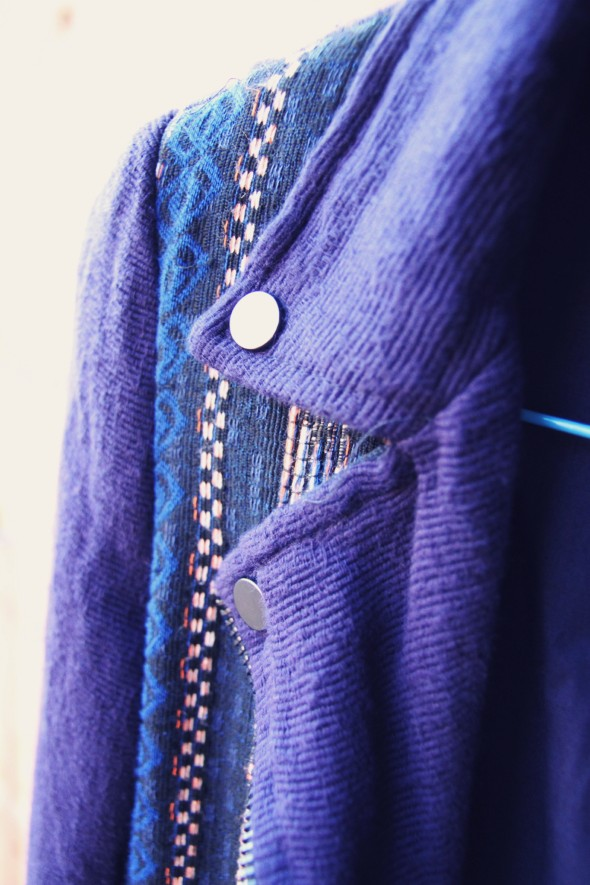 -veste jacket perfecto zara aztec bleu blue 2013 spring summer_effected
