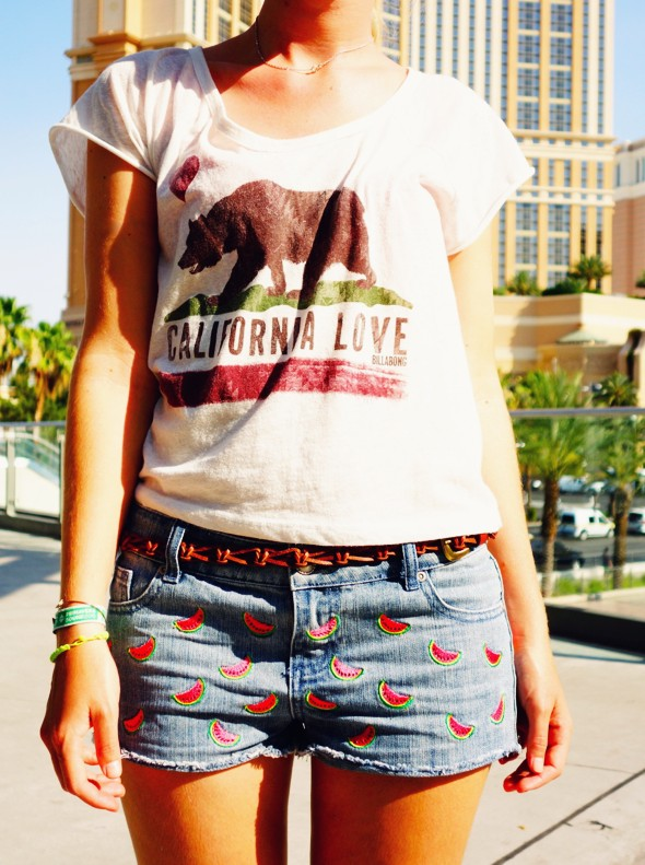 las vegas shopping mode fashion clothing billabong top primark shorts watermelon_effected