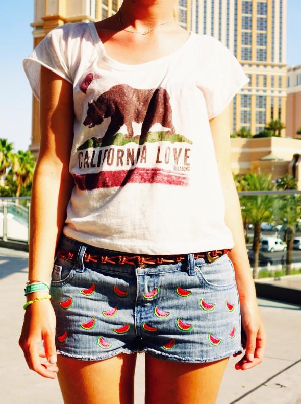 las vegas shopping mode fashion clothing billabong top primark shorts watermelon_effected