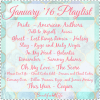 January '16 Playlist