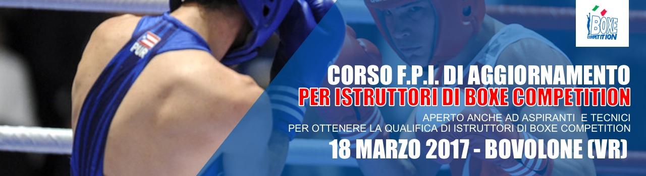Corso FPI di Aggiornamento Istruttori Boxe Competition – 2017