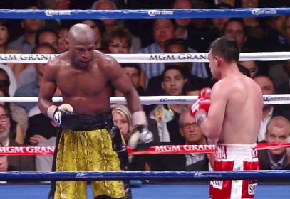 photo: robert guerrero floyd mayweather jr boxing