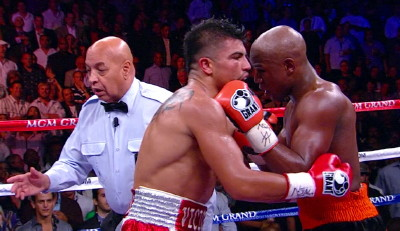photo: victor ortiz floyd mayweather jr