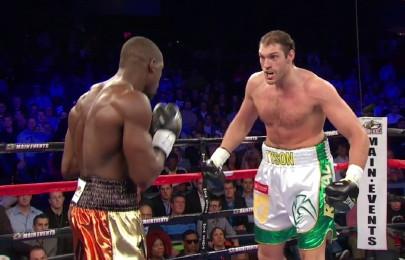 photo: tyson fury steve cunningham boxing
