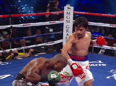 photo: miguel cotto manny pacquiao floyd mayweather jr
