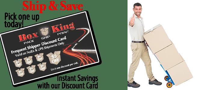 Box King discount shipping card