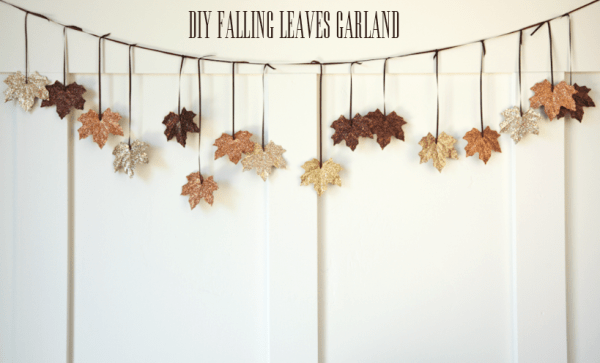 boxwood clippings_diy falling leaves garland