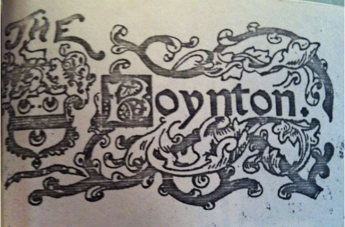 Boynton Hotel letterhead