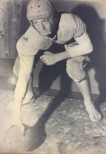 Howard Waite, Jr., high school football photograph