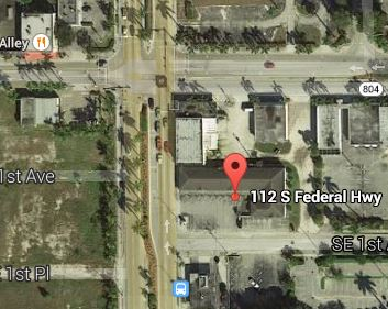 Google Map of 112 S. Federal Highway today