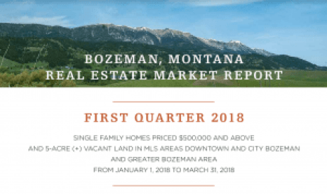 Bozeman Real Estate Market Report | First Quarter 2018