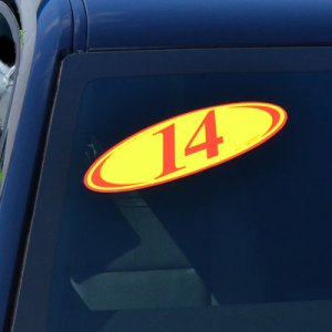2-Digit Oval Year Stickers
