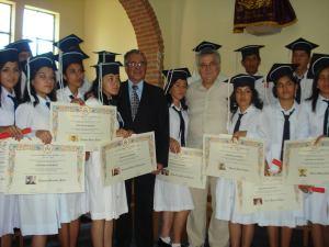 Diploma ragazze scuola Monteagudo