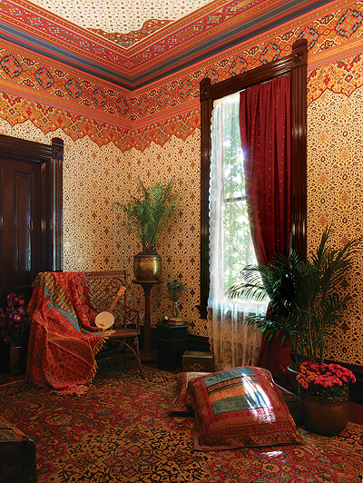 Persian Eastern Style Art Wallpapers as seen on the HBO series Boardwalk Empire   Bradbury ...