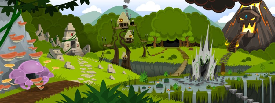 Crystal-Casters-Game-Map-Jungle-Island