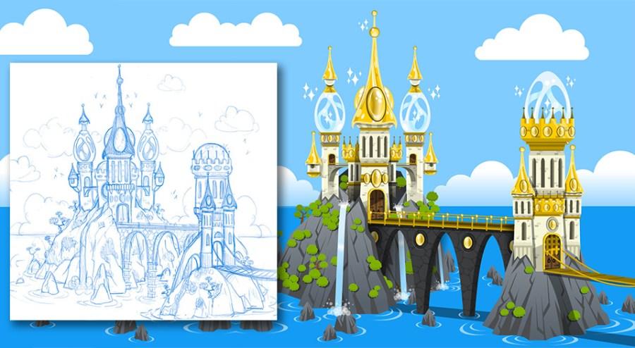 Crystal Casters Game Background Design Overlook Island